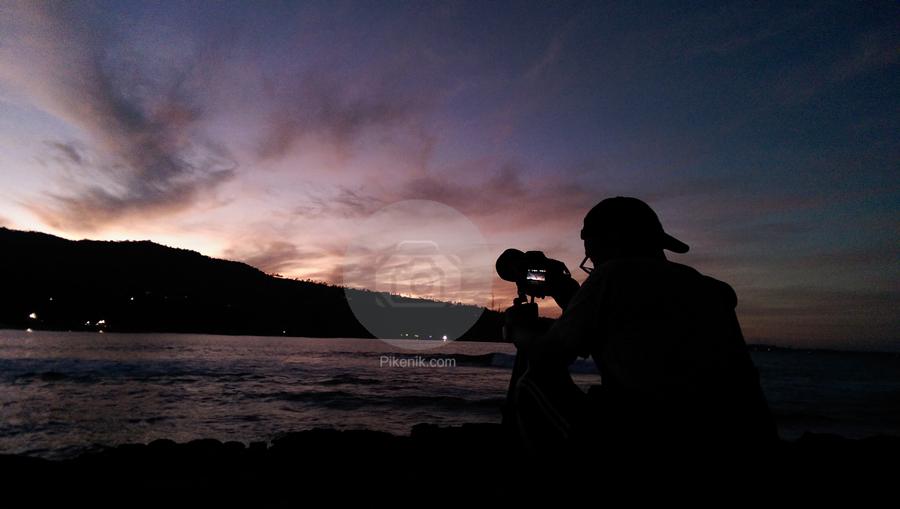 Fotografer pagi di Senggigi